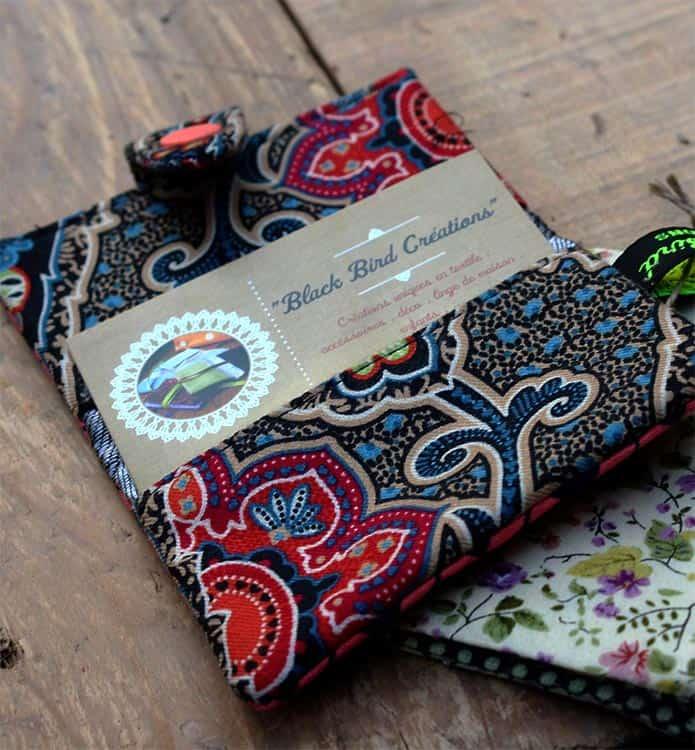 porte carte textile