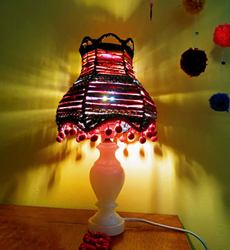 lampe up'cyclée